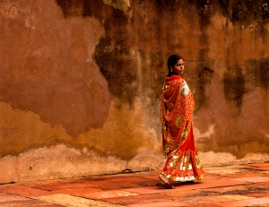Woman at Fatipur Sikri by Jenee Rue Sastry
