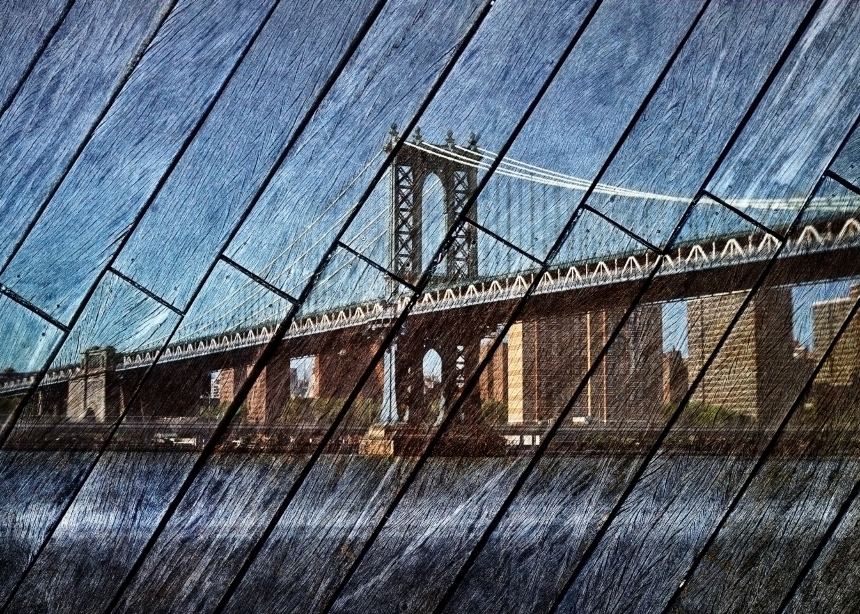 Manhattan Bridge - by Abe Morell